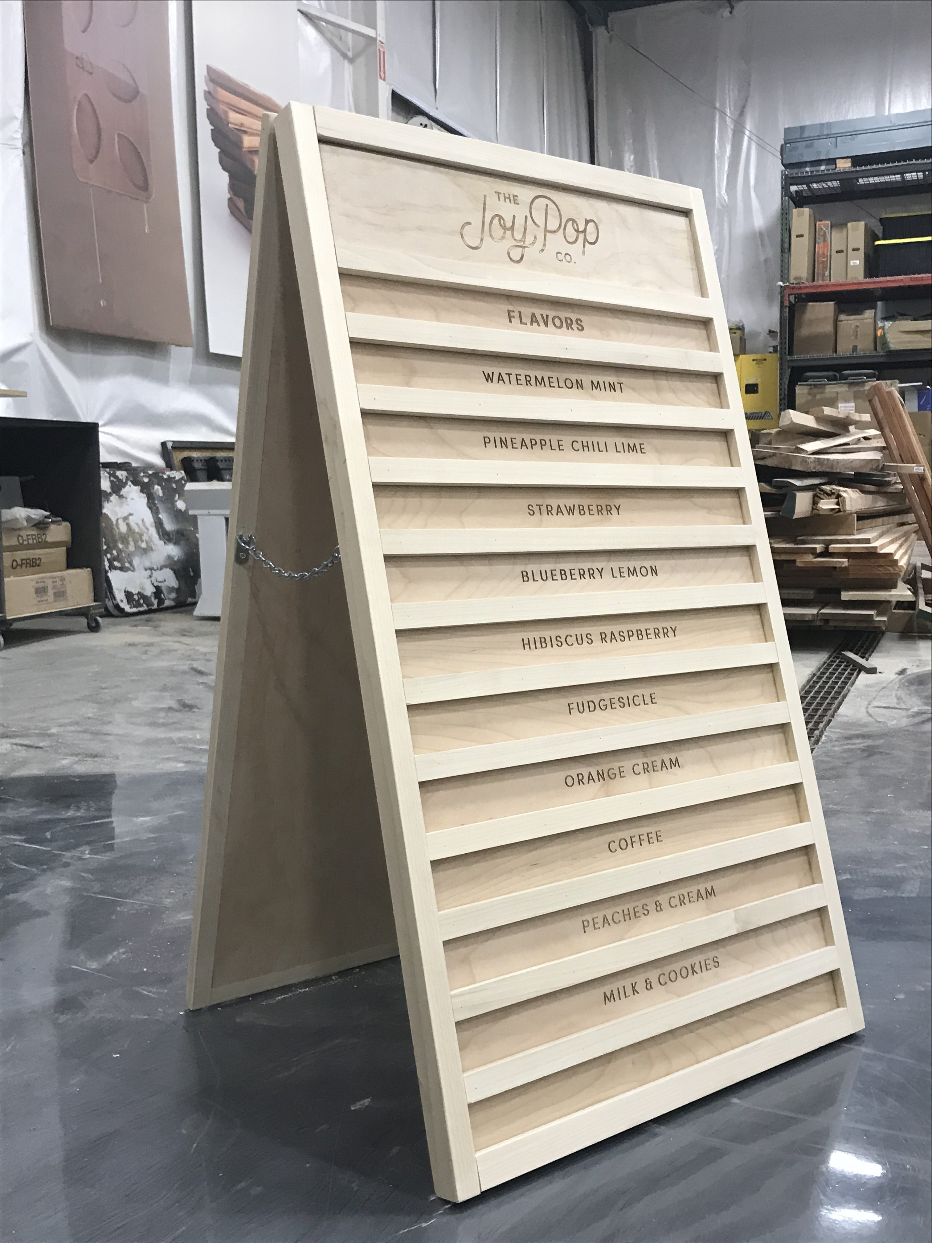 Pop Joy Sign Legacy Woodworking And Design